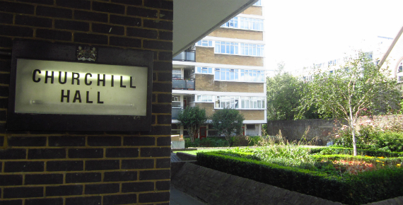 Churchill Gardens residents hall